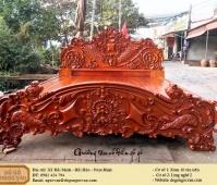 giường tân cổ điển gỗ gõ